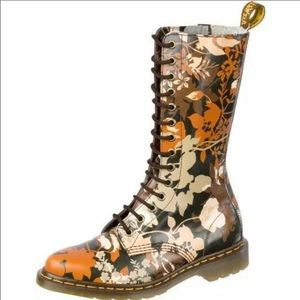 Dr Martens CERYS floral tall boots new 37 6